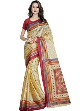 Viva N Diva Printed Taffeta Saree-11045-Pooja