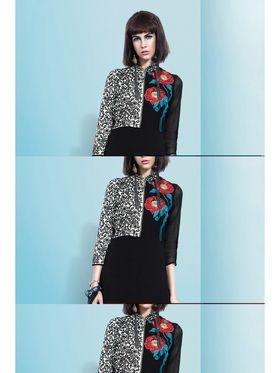 Viva N Diva Embroidered Faux Georgette Semi Stitched Salwar Suit -11087-Blush-06