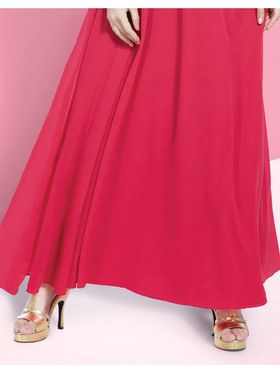 Viva N Diva Embroidered Faux Georgette Semi Stitched Salwar Suit -11089-Blush-06