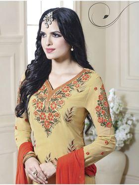 Viva N Diva Embroidered Faux Georgette Semi Stitched Salwar Suit -11111-Kalika