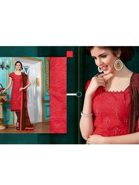Viva N Diva Emroidered Unstiched Cotton Dress Material_11129-Elifa