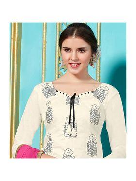 Viva N Diva Emroidered Unstiched Cotton Dress Material_11131-Elifa