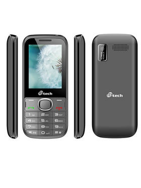 Mtech V4 16GB With Preloaded Whatsapp Mobile Phone - Grey