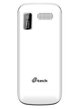 Mtech V4 16GB With Preloaded Whatsapp Mobile Phone - White