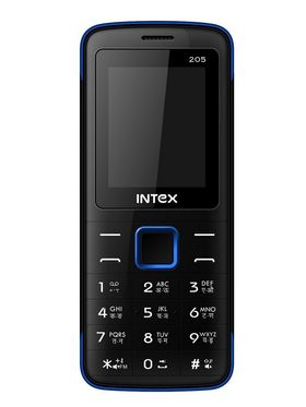Intex Neo 205 Dual SIM Mobile Phone - Black & Blue