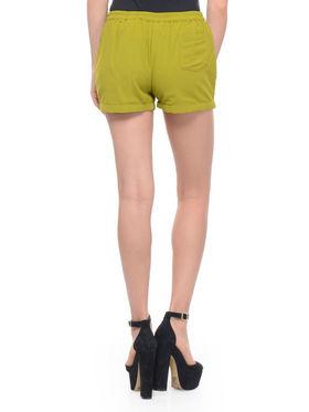 Lavennder Ladies Georgette Short With Lining - Mehendi Green_LW-5142