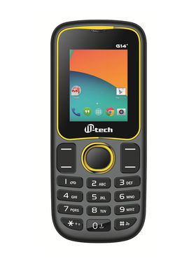 Mtech G14+ Dual Sim Feature Phone - Black & Yellow