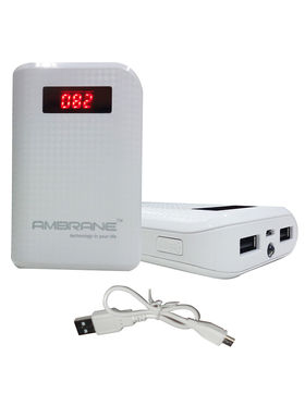 Ambrane Power Bank P-6000(6000 mAh) - White