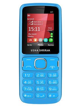 Usha Shriram A1 Feature Phone(Dual Sim,Blue)