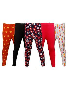 Pack of 5 Little Star Girl's Multicolor Leggings - PO5L_122
