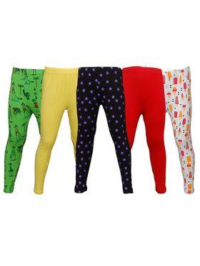 Pack of 5 Little Star Girl's Multicolor Leggings - PO5L_127