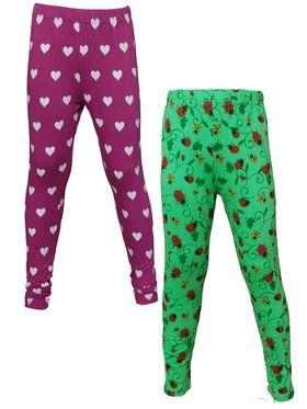 Pack of 2 Little Star Girl's Multicolor Leggings - GP_3208