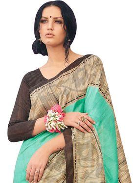 Viva N Diva Printed Bhagalpuri Silk Saree -11103-Banarasiya-06