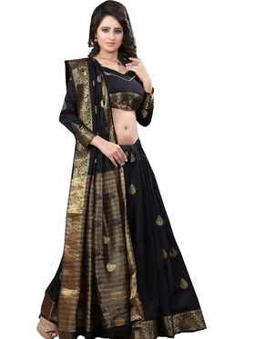 Viva N Diva Jacquard Banarasi Silk Saree -11383-Color Crush-03