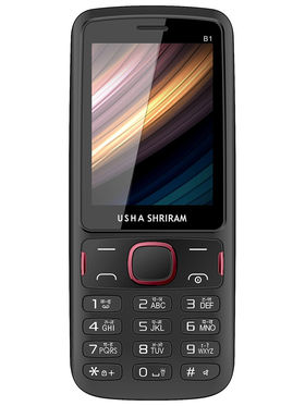 Usha Shriram A2 Feature phone (Black and Red)