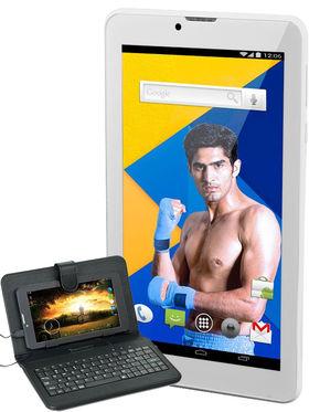 Ambrane AQ 700 Lollipop Quad Core 3G Calling Tablet (RAM:1GB ROM:8GB) - White + Keyboard