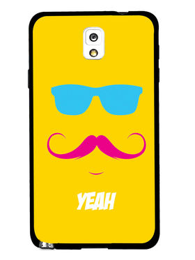 Snooky Designer Print Hard Back Case Cover For Samsung Galaxy Note 3 - Yellow