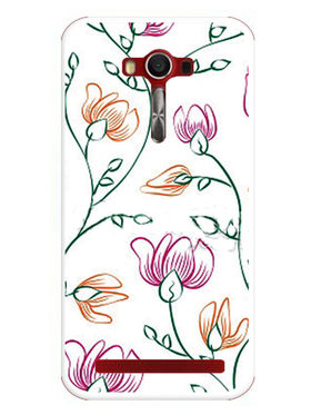Snooky Designer Print Hard Back Case Cover For Asus Zenfone 2 Laser 5.0 (ZE500KL) - White