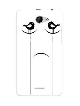 Snooky Designer Print Hard Back Case Cover For HTC Desire 516 - White