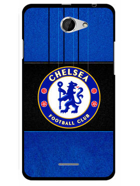 Snooky Designer Print Hard Back Case Cover For HTC Desire 516 - Blue