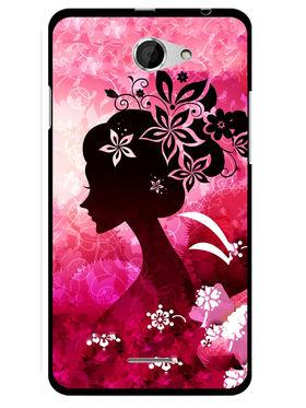 Snooky Designer Print Hard Back Case Cover For HTC Desire 516 - Pink