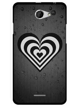 Snooky Designer Print Hard Back Case Cover For HTC Desire 516 - Grey