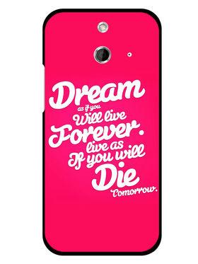 Snooky Designer Print Hard Back Case Cover For HTC One E8 - Rose Pink