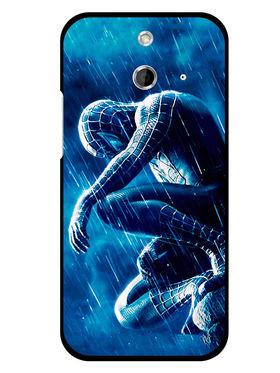 Snooky Designer Print Hard Back Case Cover For HTC One E8 - Blue