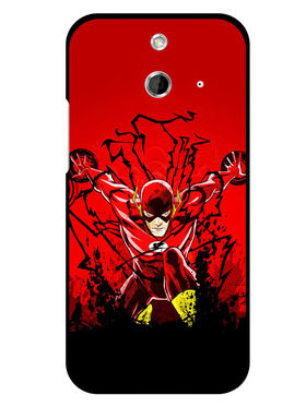 Snooky Designer Print Hard Back Case Cover For HTC One E8 - Red