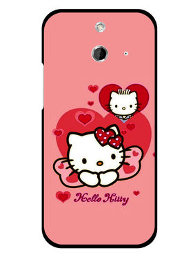 Snooky Designer Print Hard Back Case Cover For HTC One E8 - Pink