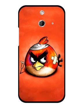 Snooky Designer Print Hard Back Case Cover For HTC One E8 - Orange