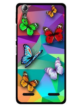 Snooky Designer Print Hard Back Case Cover For Lenovo A6000 - Multicolour