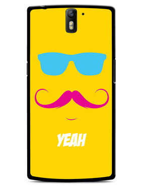 Snooky Designer Print Hard Back Case Cover For OnePlus One - Yellow