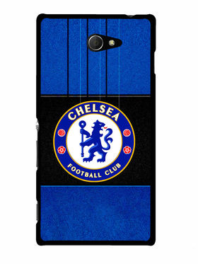 Snooky Designer Print Hard Back Case Cover For Sony Xperia M2 - Blue