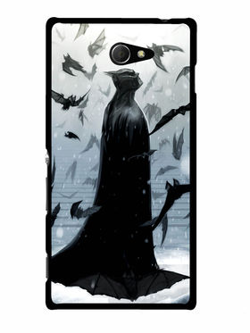 Snooky Designer Print Hard Back Case Cover For Sony Xperia M2 - Grey