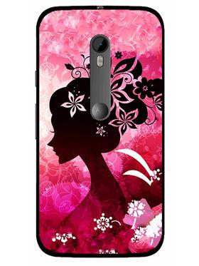 Snooky Designer Print Hard Back Case Cover For Motorola Moto G (Gen 3) - Pink