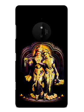 Snooky Designer Print Hard Back Case Cover For Nokia Lumia 830 - Black