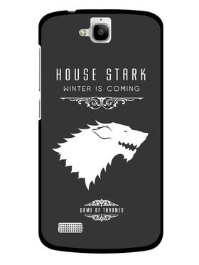 Snooky Designer Print Hard Back Case Cover For Huawei Honor Holly - Grey