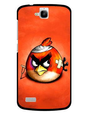 Snooky Designer Print Hard Back Case Cover For Huawei Honor Holly - Orange