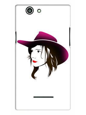Snooky Designer Print Hard Back Case Cover For Xolo A500s - White