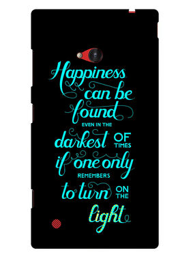 Snooky Designer Print Hard Back Case Cover For Nokia Lumia 720 - Black