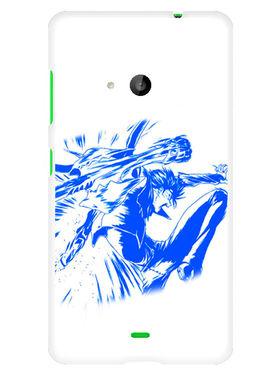 Snooky Designer Print Hard Back Case Cover For Microsoft Lumia 535 - Blue