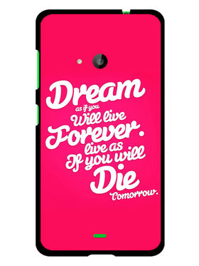 Snooky Designer Print Hard Back Case Cover For Microsoft Lumia 535 - Rose Pink
