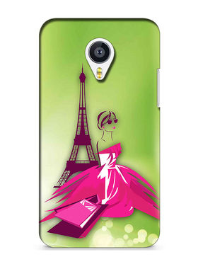 Snooky Digital Print Hard Back Case Cover For Meizu MX4 - Green