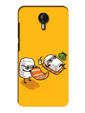 Snooky Digital Print Hard Back Case Cover For Micromax Canvas Nitro 3 E455 - Yellow