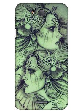 Snooky Digital Print Hard Back Case Cover For InFocus M530 - Green
