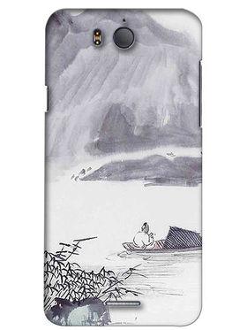 Snooky Digital Print Hard Back Case Cover For InFocus M530 - Grey