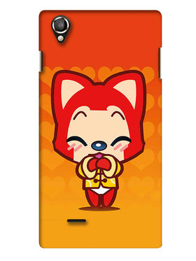 Snooky Digital Print Hard Back Case Cover For Lava Iris 800 - Orange