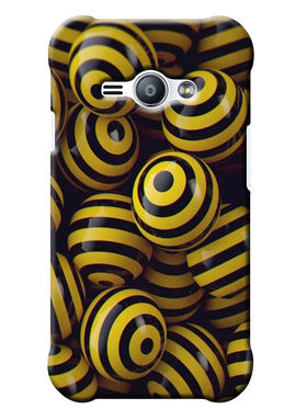 Snooky Digital Print Hard Back Case Cover For Samsung Galaxy J1 Ace - Yellow
