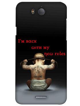 Snooky Digital Print Hard Back Case Cover For InFocus M530 - Black